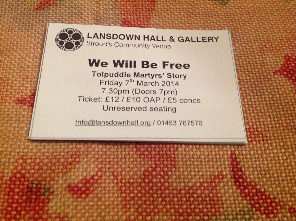 Review of 'We Will Be Free!' The Space, Stroud, March 7th.