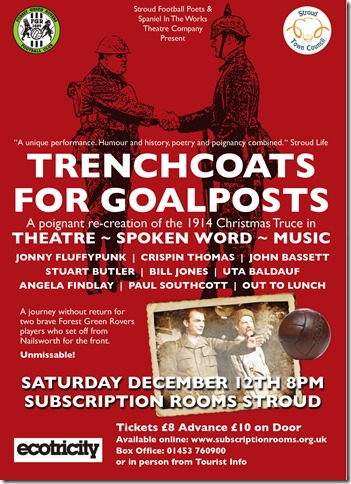 Trenchcoats for Goalposts Poster