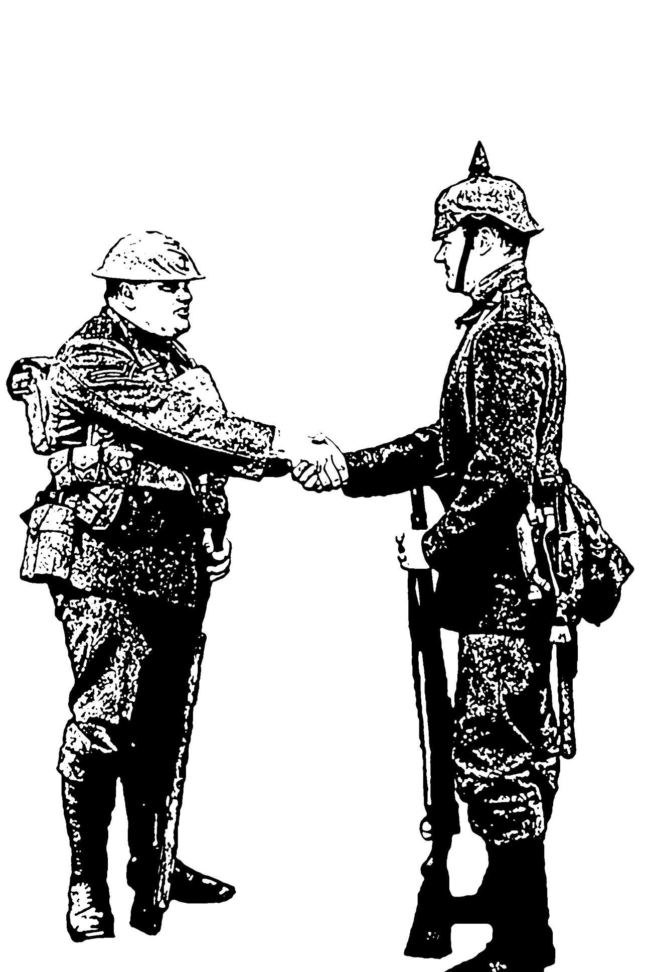 Christmas Truce handshake 1914
