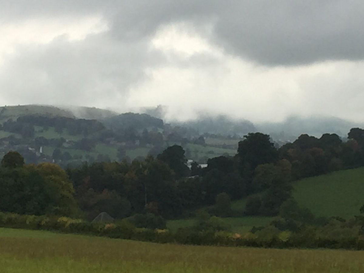 Walking from Scottsquar Hill to Painswick and to Stroud